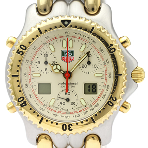 TAG HEUER Sel Chronograph Gold Plated Steel Mens Watch CG1123