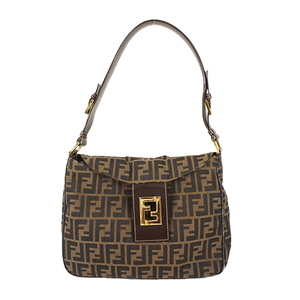 Auth Fendi Shoulder Bag Zucca Brown