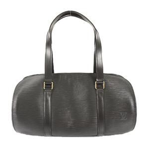 Auth Louis Vuitton Handbag Epi Soufflot M52862 Noir