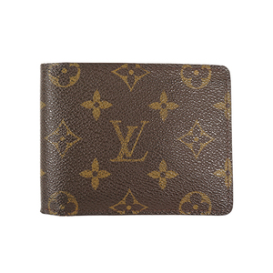 Auth Louis Vuitton Wallet Monogram Portefeuille Multiple M60895