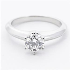 Tiffany Setting Platinum 950 Engagement & Wedding Diamond Engagement Ring Carat/0.71 Platinum