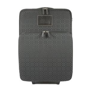 コーチ スーツケース キャリーケース シグネチャー ブラック シルバー金具