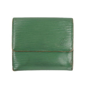 Auth Louis Vuitton Epi Porte Monnaie Billet Carte Credit M63484 Borneo Green