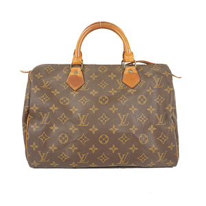 Auth Louis Vuitton Monogram Speedy30 M41526