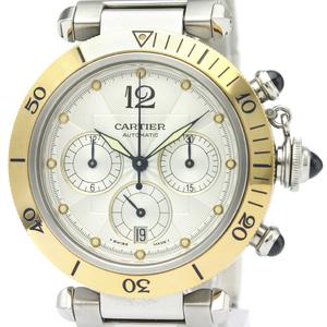 CARTIER Pasha 38 Chronograph 18K Gold Steel Watch W31036T6