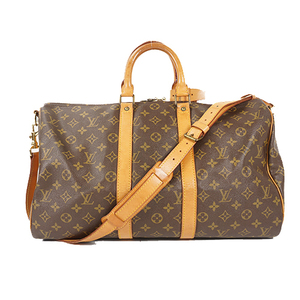 Auth Louis Vuitton Monogram Keepall Bandouliere 45 M414