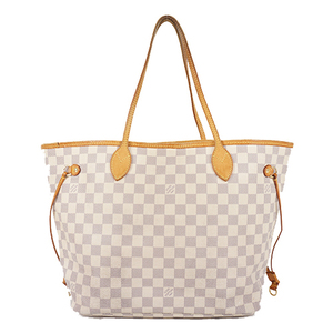 Auth Louis Vuitton Tote Bag Damier Azur Neverfull MM N51107