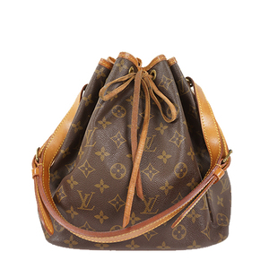 Auth Louis Vuitton Shoulder bag Monogram Petit Noe M42226