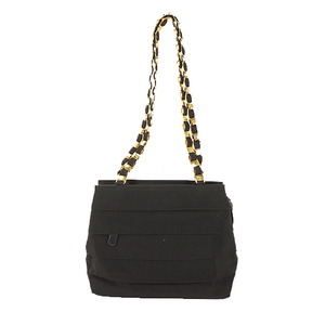 Auth Salvatore Ferragamo Shoulder Bag Vara Black