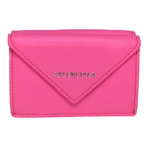 バレンシアガ(Balenciaga) 391446 ペーパーミニウォレット 財布(三つ折り) ピンク