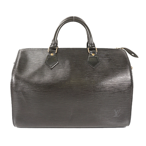 Auth Louis Vuitton Handbag Epi Speedy 30 M59022  Noir