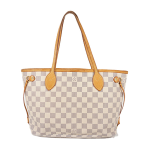 Auth Louis Vuitton Tote Bag Damier Azur Neverfull N41362