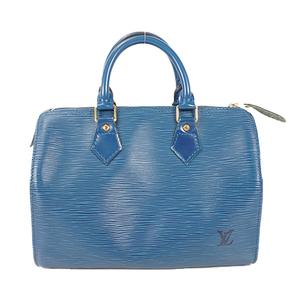 Auth Louis Vuitton Handbag Epi Speedy 25 M43015 Toledo Blue