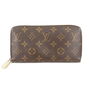 Auth Louis Vuitton Long wallet Monogram Zippy Wallet M60017