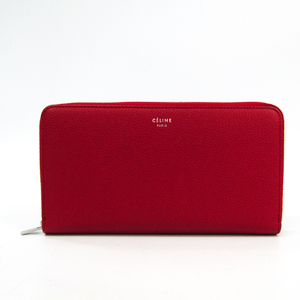 Celine Large Ziped Multifunction 105003 Women's Leather Long Wallet (bi-fold) Red