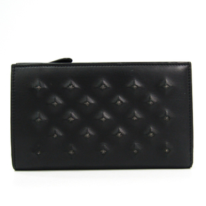 ボッテガ・ヴェネタ(Bottega Veneta) メンズ レザー 中財布(二つ折り) ブラック