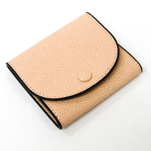 Valextra V0L90 Unisex Leather Coin Purse/coin Case Beige