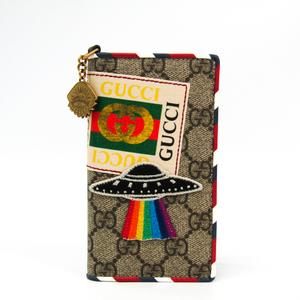 グッチ(Gucci) GGスプリーム 手帳型/カード入れ付きケース iPhone 7 対応 マルチカラー,ベージュ グッチ クーリエ 474316