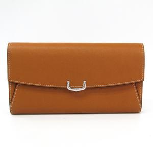 Cartier C De Cartier International Women's Leather Long Wallet (bi-fold) Brown