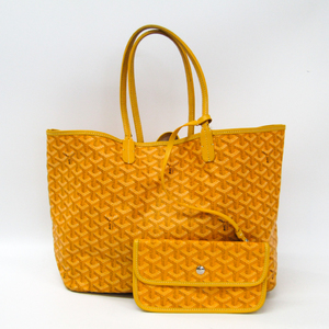 Goyard Saint Louis Saint Louis PM Leather,Canvas Tote Bag Yellow