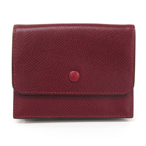 Hermes Courchevel Leather Card Case Dark Brown