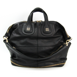 Givenchy Nightingale Unisex Leather Handbag,Shoulder Bag Black