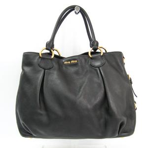 Miu Miu Women's Leather Handbag Black