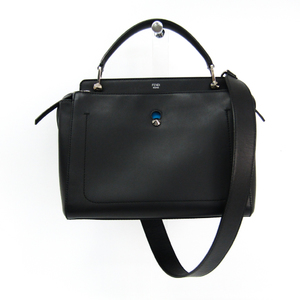Fendi Dotcom 8BN298 Women's Leather Handbag,Shoulder Bag Black