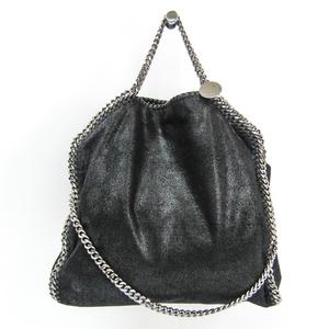 Stella McCartney Shaggy Deer Fold Over Tote 234387W9132 Women's Polyester Shoulder Bag,Tote Bag Black