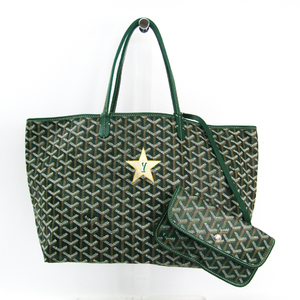 Goyard Saint Louis PM Women's Canvas,Leather Tote Bag Green