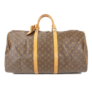 Auth Louis Vuitton Boston Bag Monogram Keepall 55 M41424