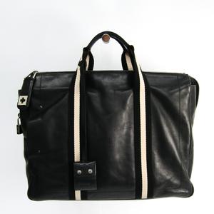 Bally Men's Leather,Canvas Briefcase Black