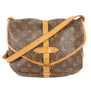 Auth Louis Vuitton Shoulder Bag Monogram Saumur 30 M42256