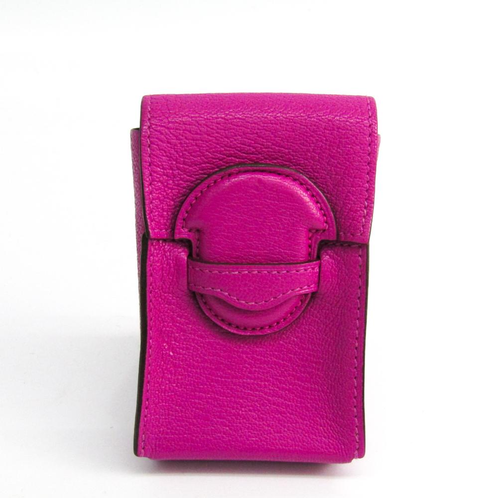 Hermes Cigarette Case Chevre Myzore Leather Pink Cigarette case 1938 H075288
