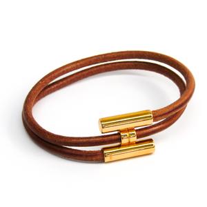 Hermes Tournis Bracelet Brown,Gold