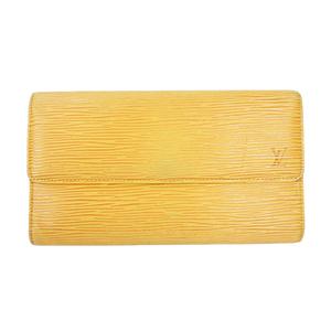 ルイヴィトン 三つ折り長財布 エピ ポルトトレゾールインターナショナル M63389 タッシリイエロー(ジョーヌ)
