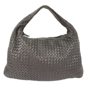 Auth Bottega Veneta Intrecciato Veneta Bag Black