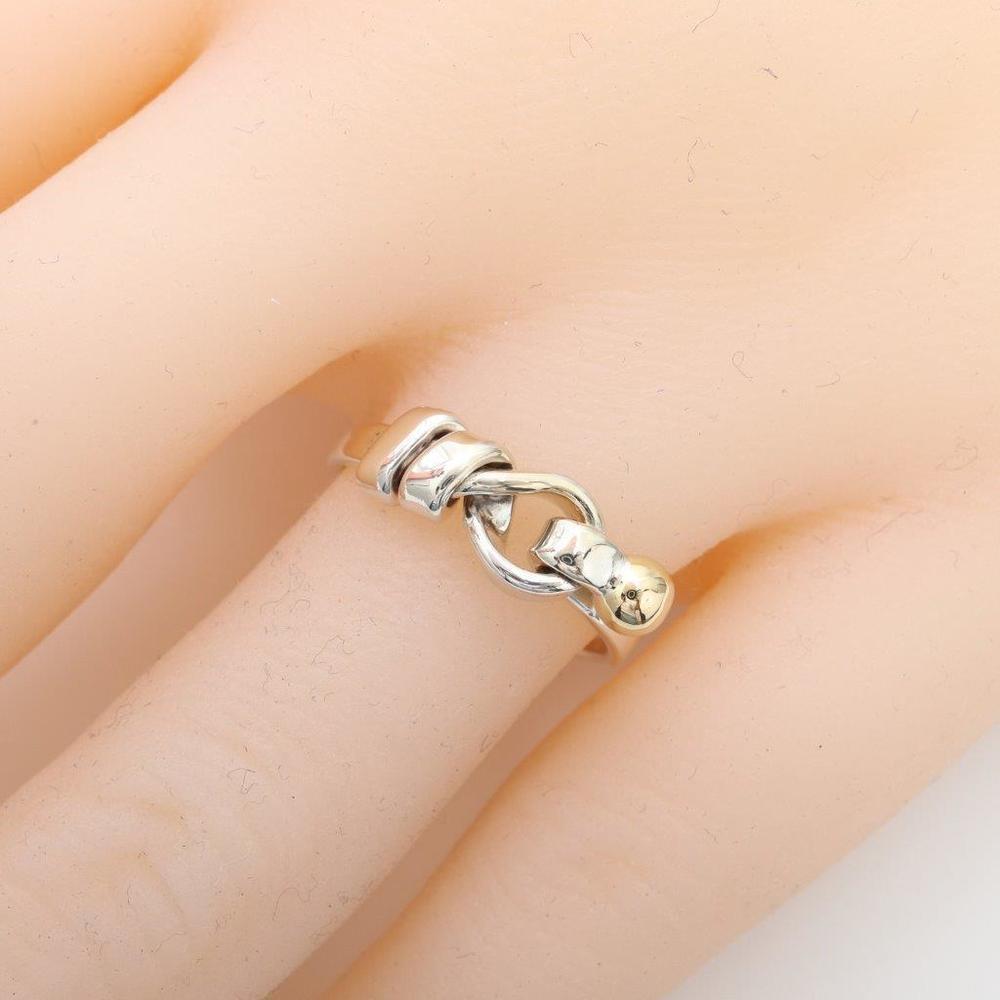 ティファニー (Tiffany) ワイヤーリング スターリングシルバー925,K18イエローゴールド(K18YG) カジュアル 指輪・リング シルバー,イエローゴールド(YG)