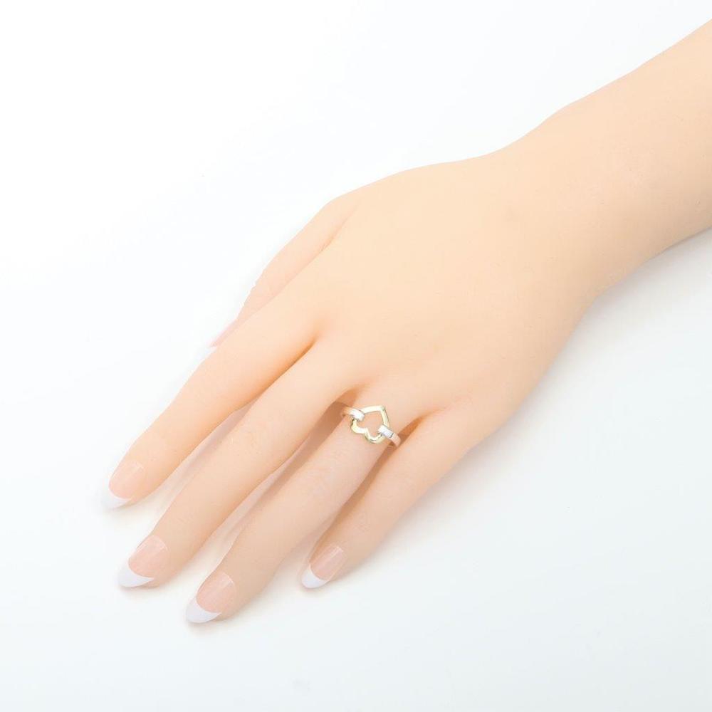 ティファニー (Tiffany) ハートモチーフリング スターリングシルバー925,K18イエローゴールド(K18YG) カジュアル 指輪・リング シルバー,イエローゴールド(YG)