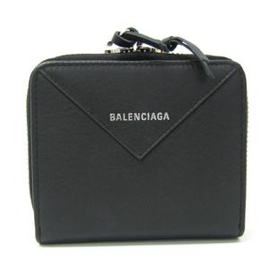 バレンシアガ(Balenciaga) ペーパー PAPER ZA BILLFOLD 371662 ユニセックス  カーフスキン 財布(二つ折り) ブラック