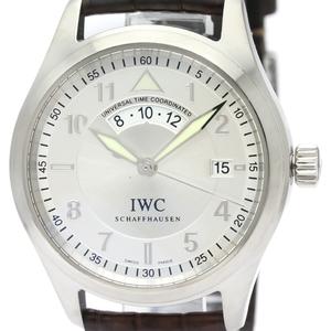 IWC スピットファイア UTC ステンレススチール レザー 自動巻き メンズ 時計 IW325107