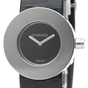 CHANEL La Ronde Steel Leather Quartz Ladies Watch H0579