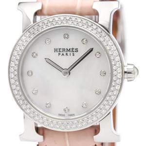 エルメス (Hermes) Hウォッチ クォーツ ステンレススチール(SS) レディース ドレスウォッチ HR1.230