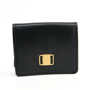 Salvatore Ferragamo Vara IT-66 0001 Unisex  Calfskin Coin Purse/coin Case Black