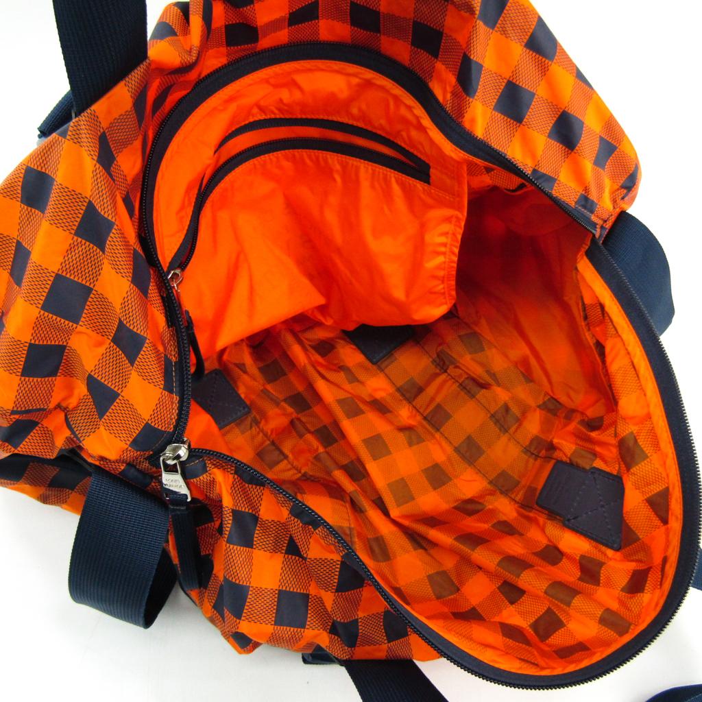 ルイ・ヴィトン (Louis Vuitton) ダミエ・アバンチュール N41232 メンズ ダミエキャンバス ボストンバッグ オレンジ