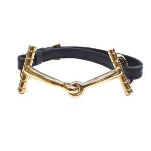 Hermes Bracelet Black,Yellow Gold