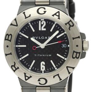 BVLGARI Diagono Carbon Dial Titanium Automatic Watch TI38TA