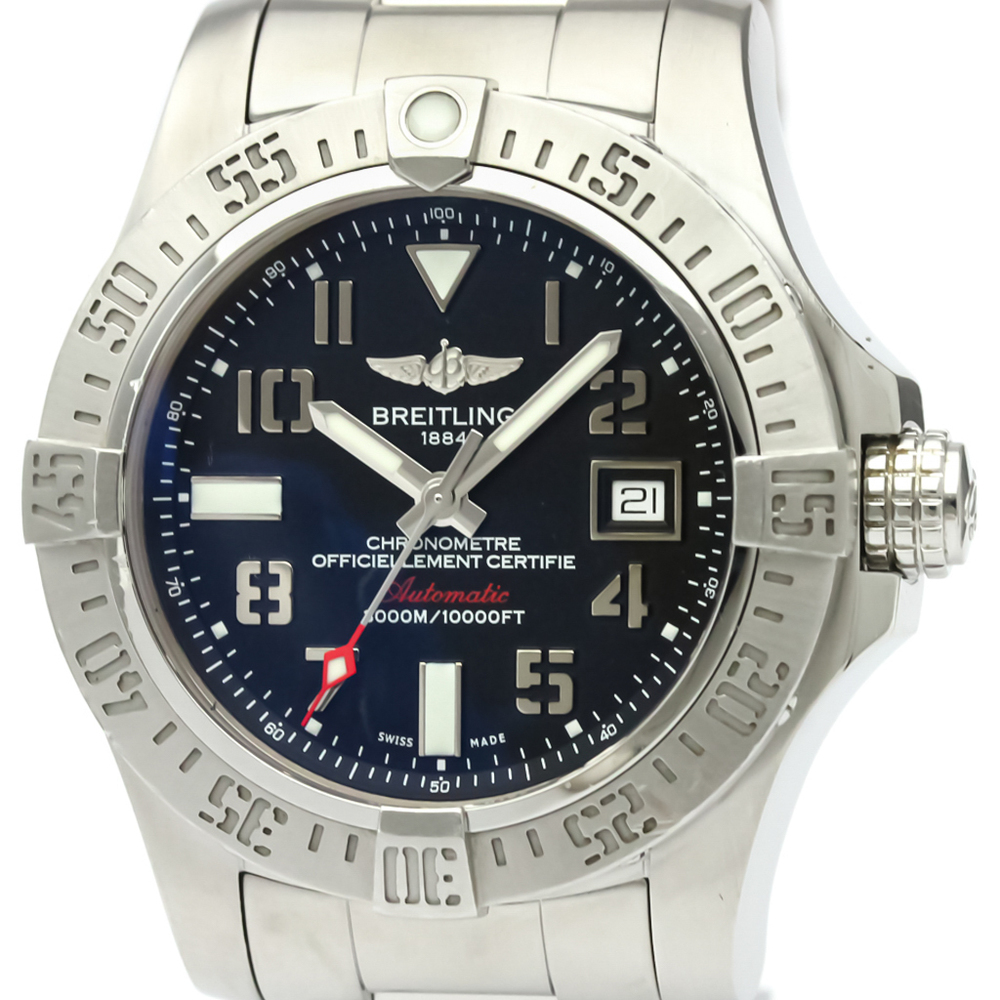 【BREITLING】ブライトリング アベンジャー II シーウルフ ステンレススチール 自動巻き メンズ 時計 A17331