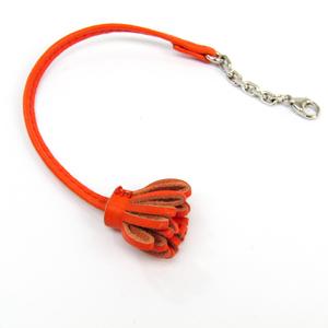 Hermes Bookmark Carmencita 17 Orange Leather