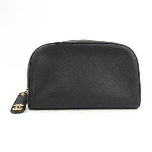 シャネル(Chanel) ユニセックス レザー クラッチバッグ,ポーチ ブラック
